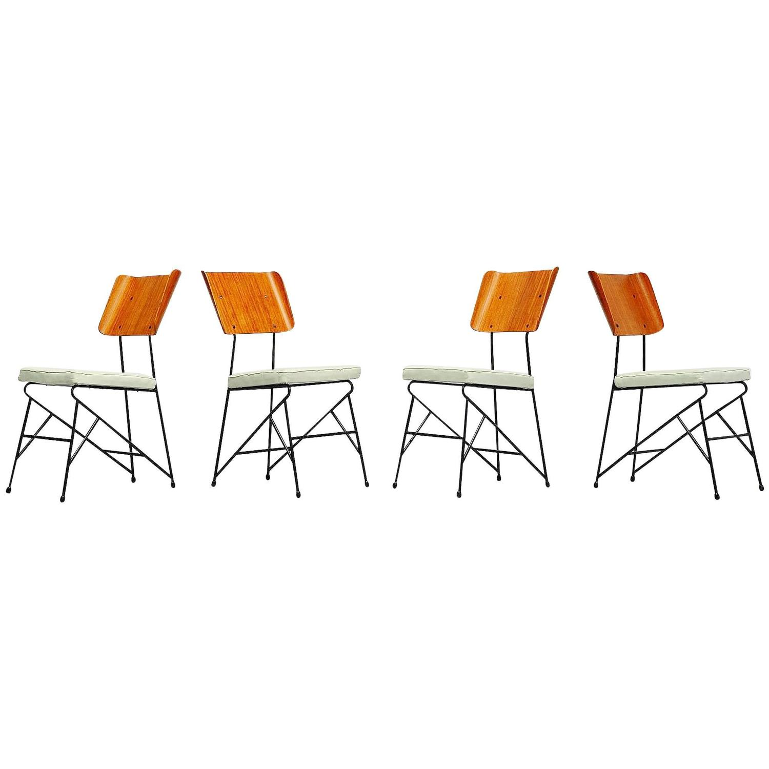 Carlo Ratti Dining Chairs For Legni Curva Italy For