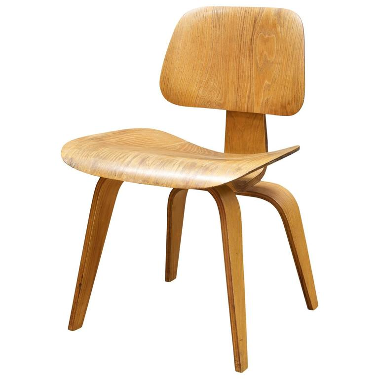 1948 Charles Eames Evans Bent Plywood Herman Miller Dining Chair At 1stdibs