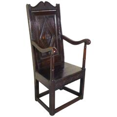 Heavily Carved Oak Roman Chair At 1stdibs