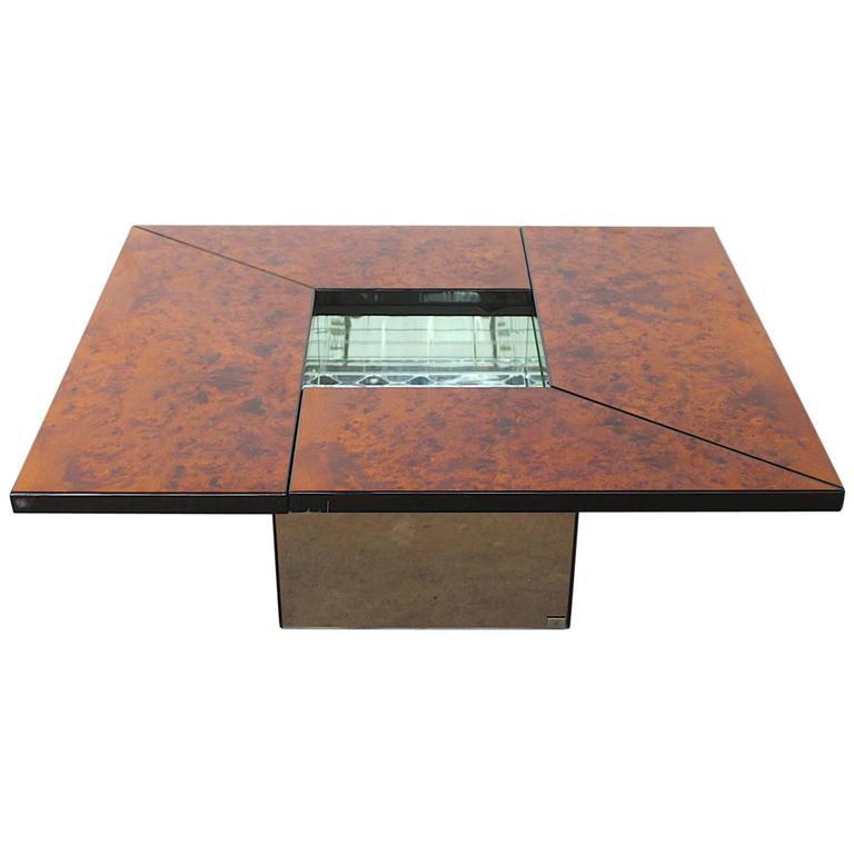 Paul Michel Burl Wood Multi Functional Coffee Table For