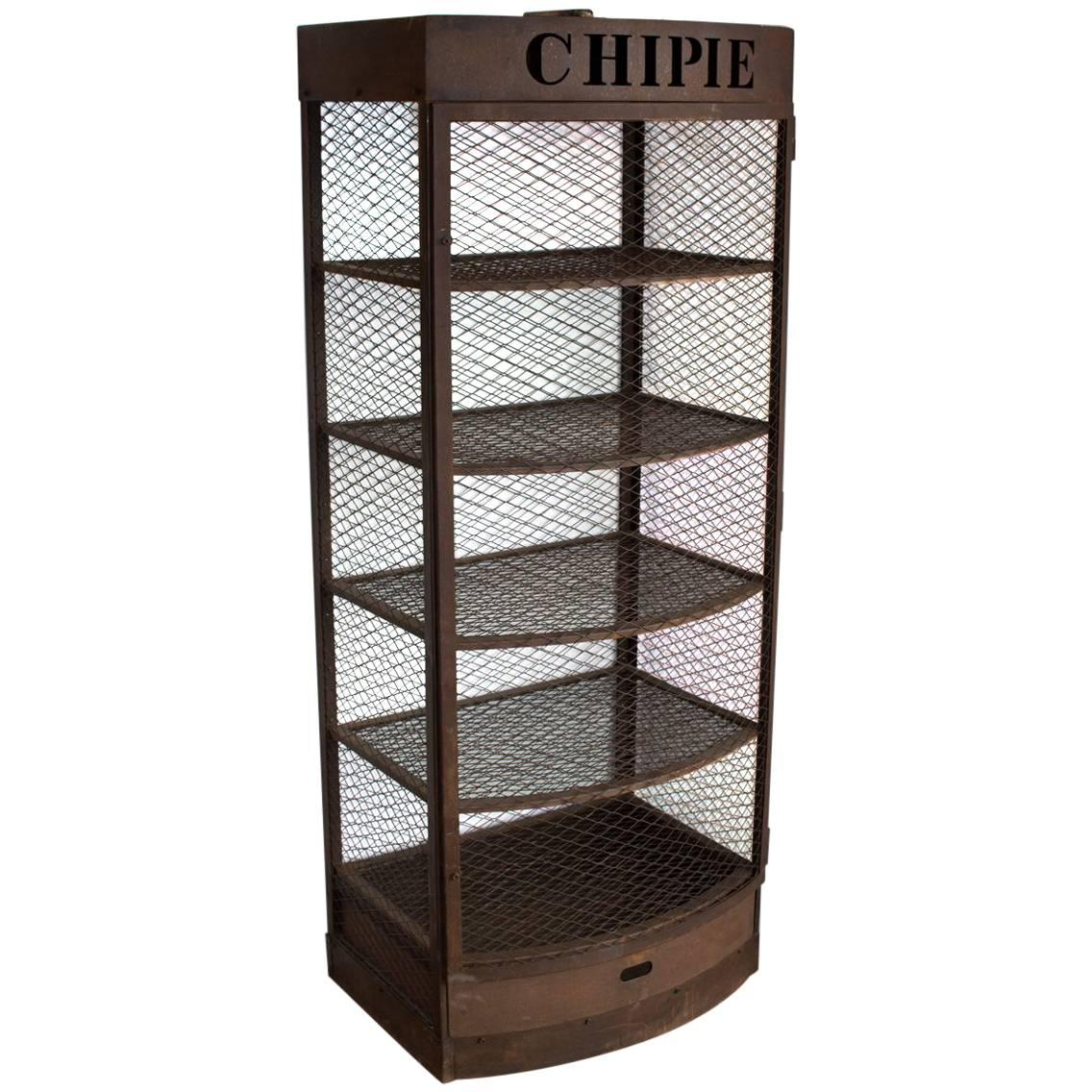 Vintage French Chipie Metal Display Case For Sale At 1stdibs