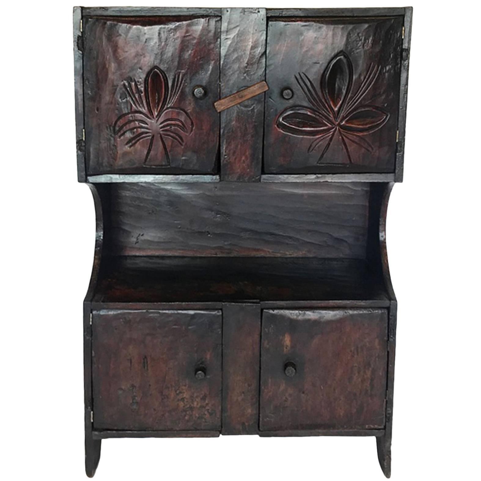 Antique Guatemalan Primitive Cabinet For Sale At 1stdibs