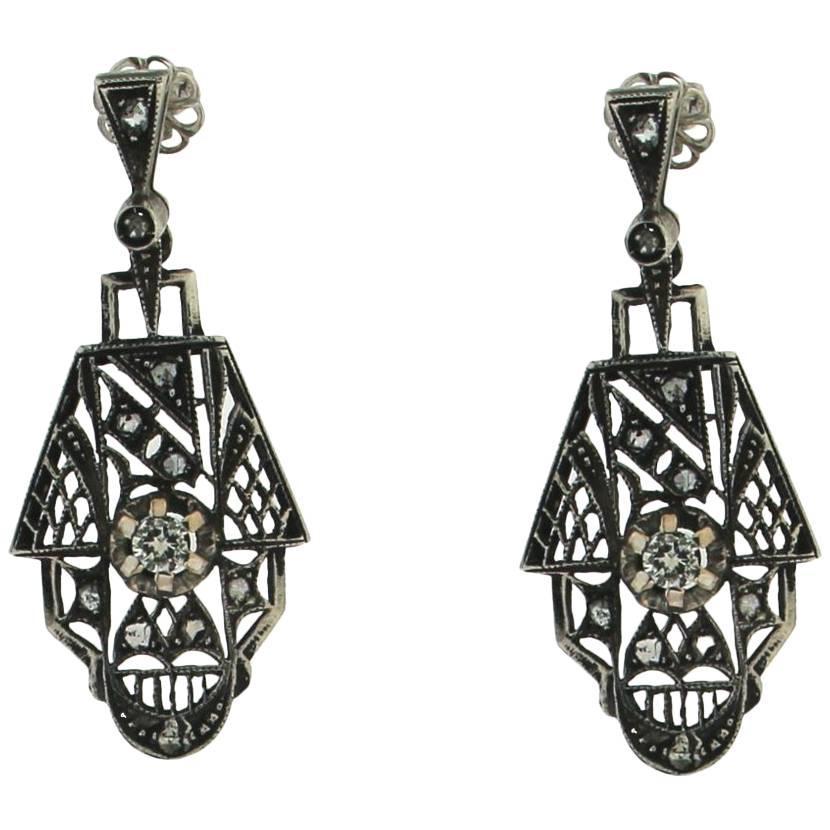Antique Victorian Era American Gold Tassel Drop Earrings ...