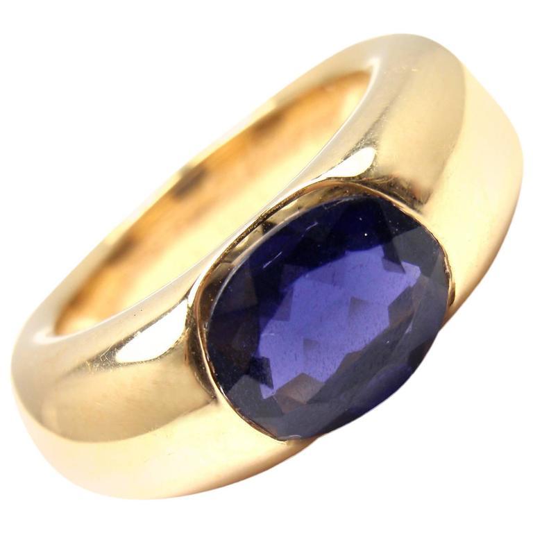 CARTIER Iolite Large Ellipse Band Ring At 1stdibs