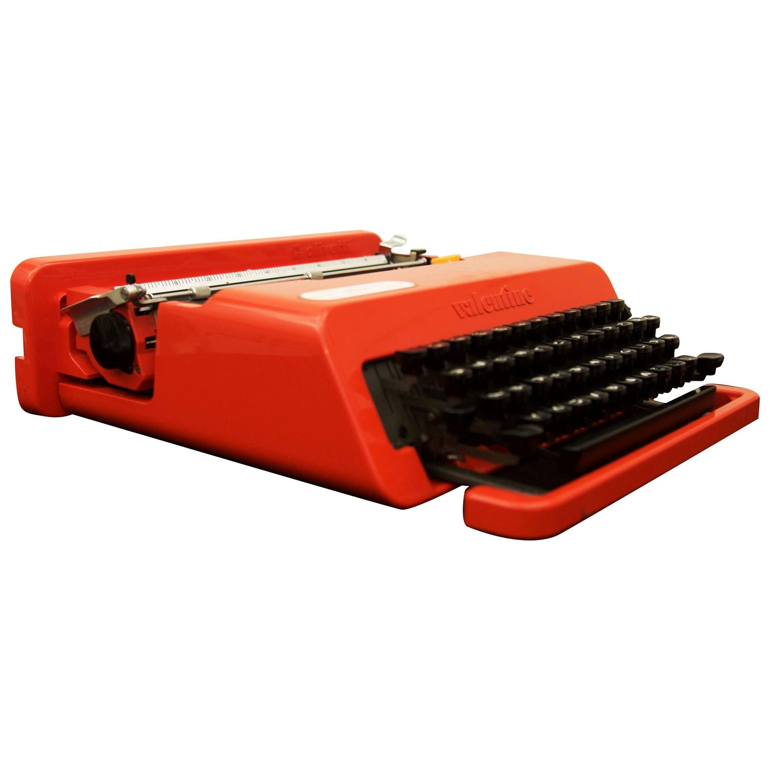 Olivetti Valentine Typewriter By Ettore Sottsass For