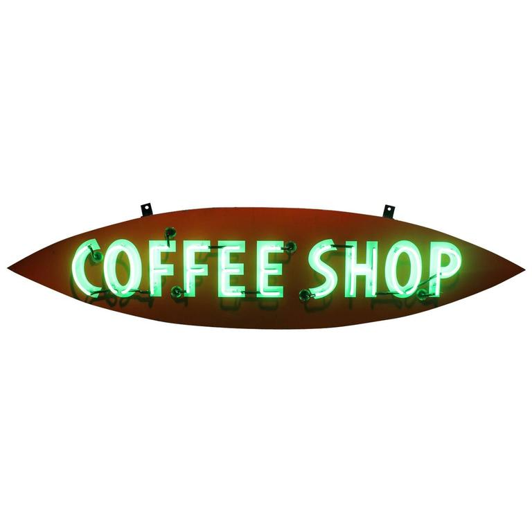 1950s Neon Sign Coffee Shop For Sale At 1stdibs