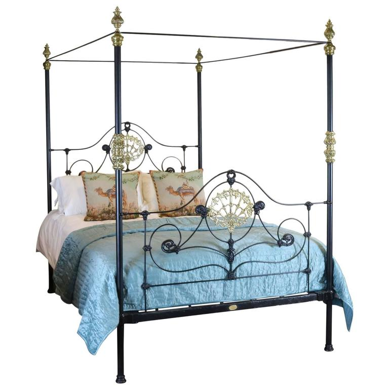 cast iron four poster bed m4p13