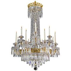 Exceptionally Fine Twelve Light Regency Chandelier