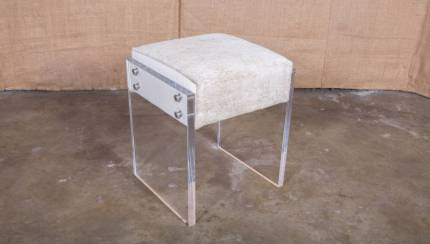 Coco Lucite Vanity Stool At 1stdibs