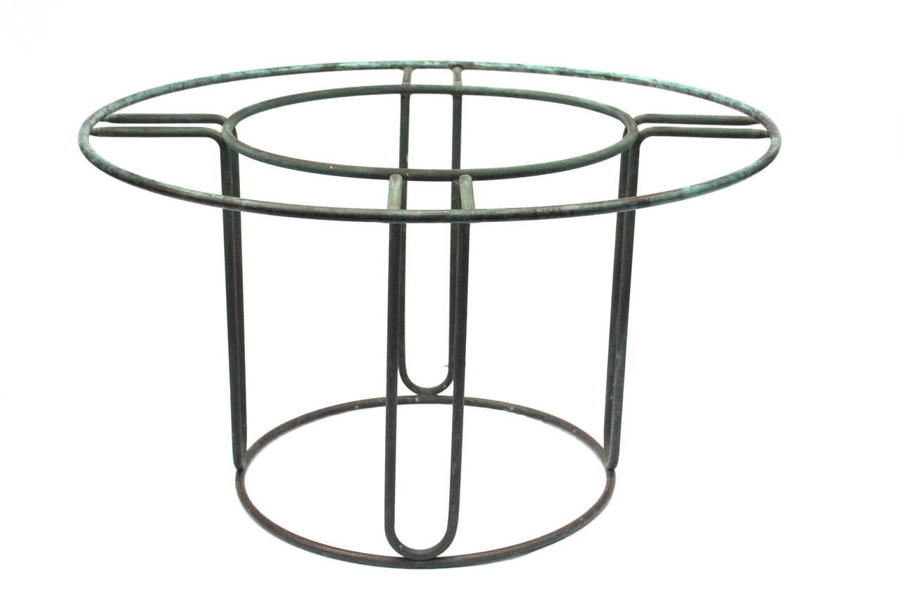 S Bronze Walter Lamb 48 Round Dining Table At 1stdibs