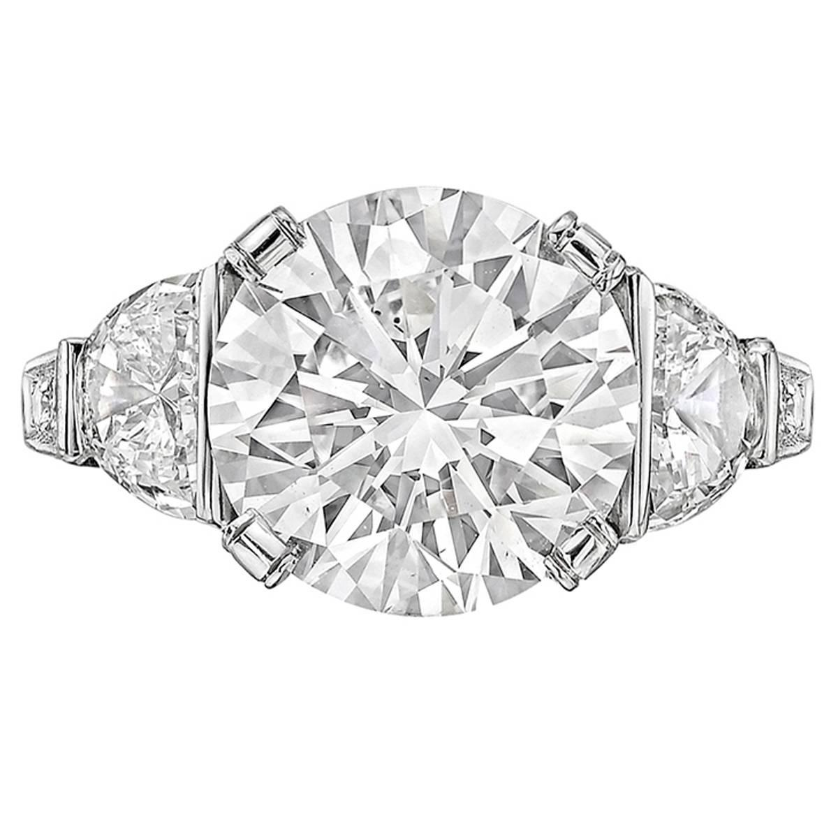 4 03 Carat Round Brilliant Cut Diamond Ring For Sale At