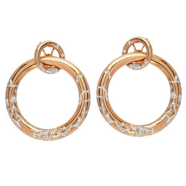 Large Diamond Gold Hoop Earrings For Sale at 1stdibs
