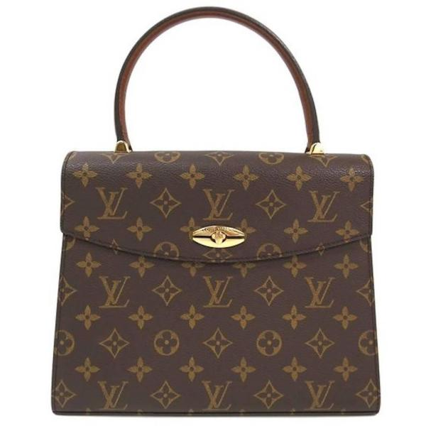 Louis Vuitton Vintage Kelly Style Gold Evening Top Handle ...