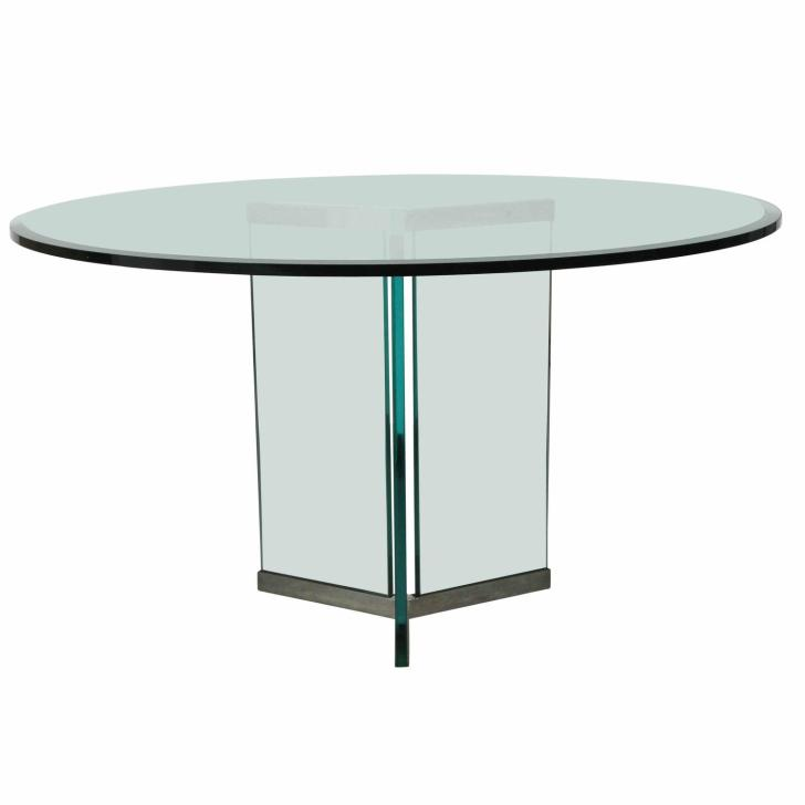 Triangular Base Dining Table Pace Sale 1stdibs