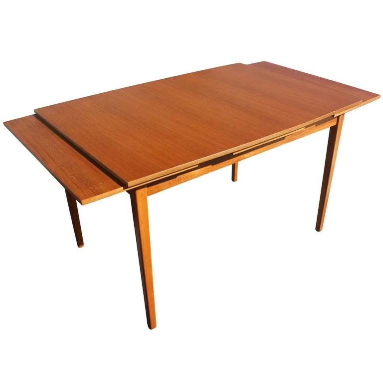 Vintage Danish Teak Extension Dining Table At 1stdibs
