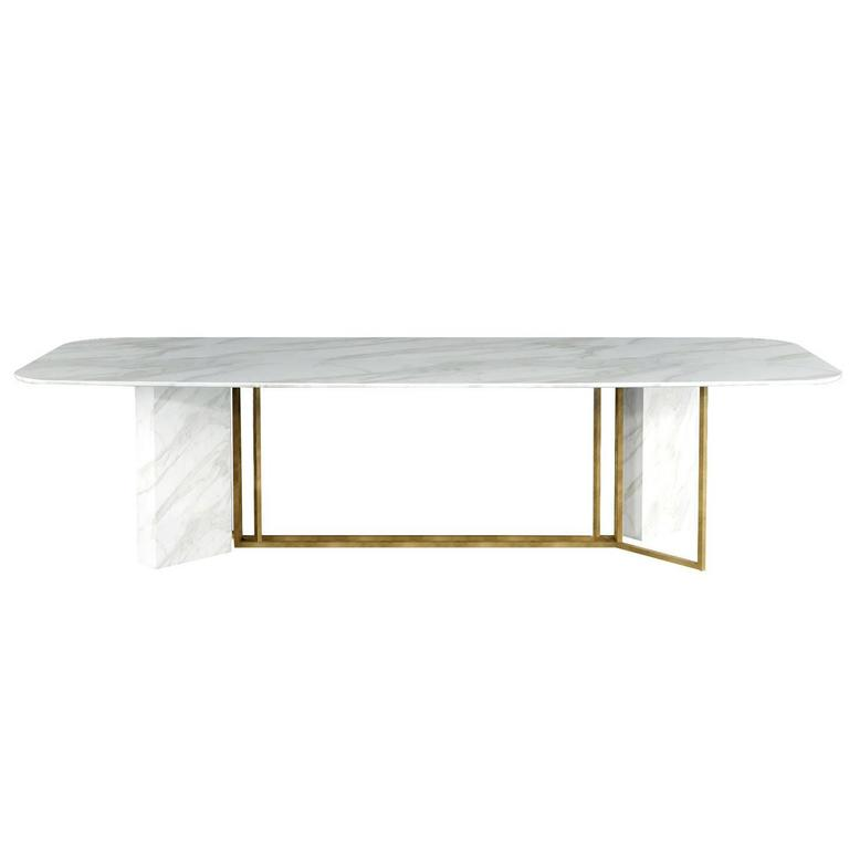 Meridiani Plinto Marble Dining Table For Sale At 1stdibs