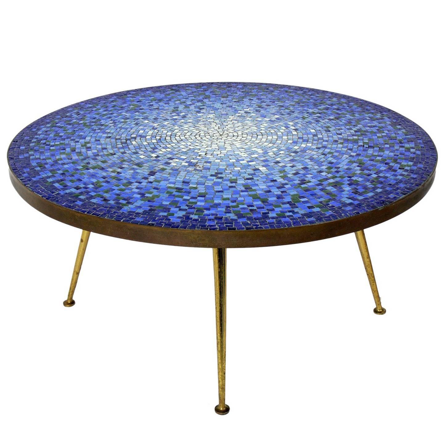italian glass mosaic tile coffee table