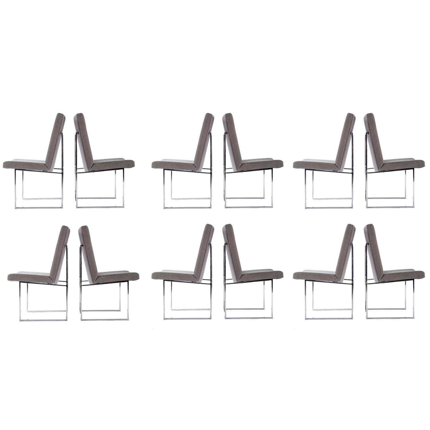 Milo Baughman Set Of 12 Dining Chairs For Thayer Coggin