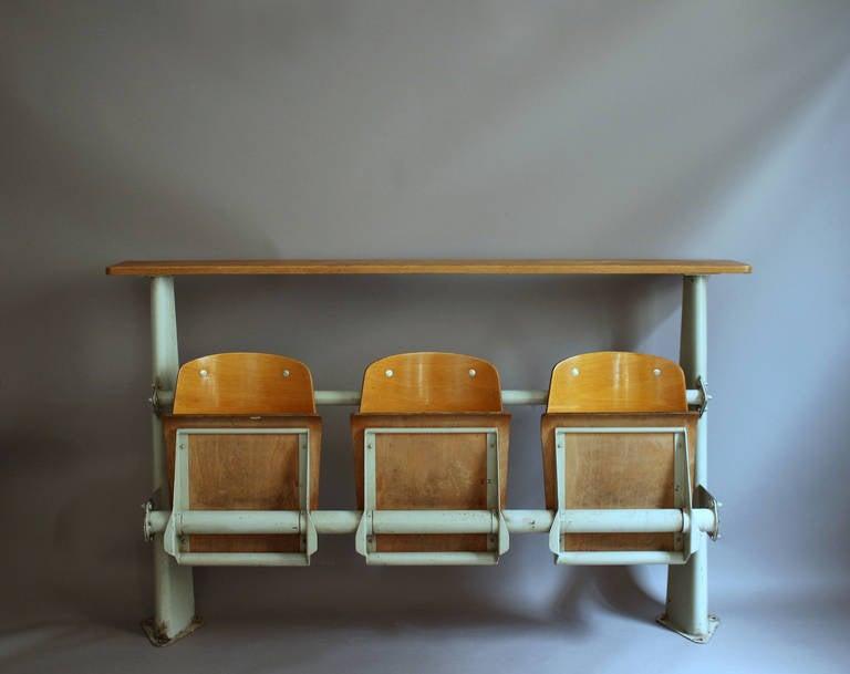 "Jean Prouve ""Amphitheatre Banquette"" Bench At 1stdibs"