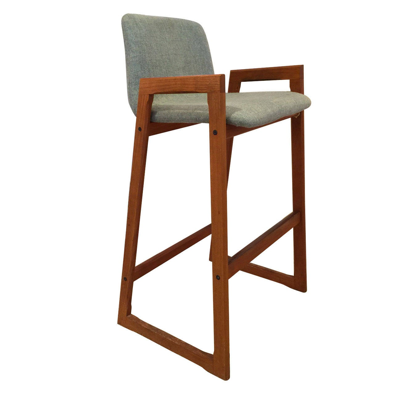 Vintage Danish Teak Bar Stool With Arms In Com 6 Available For Sale At 1stdibs
