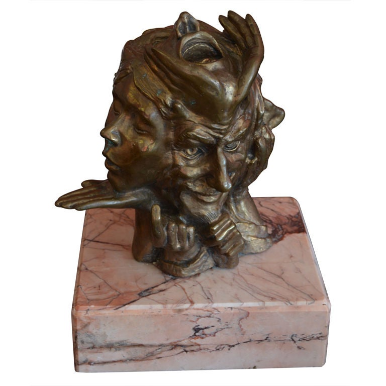 SIGNED BRONZE TABLE TOP SCULPTURE BY JAMES MASTIN At 1stdibs