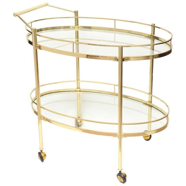 Bar Trolley Stunning Vintage Lacquered Wood Bar Trolley S