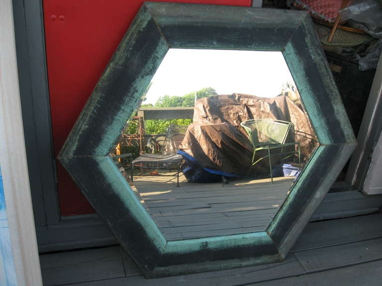 """51"""" Copper Mirror At 1stdibs"""