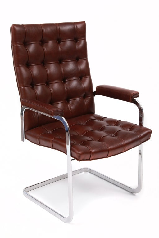 Brown Leather Dining Chairs