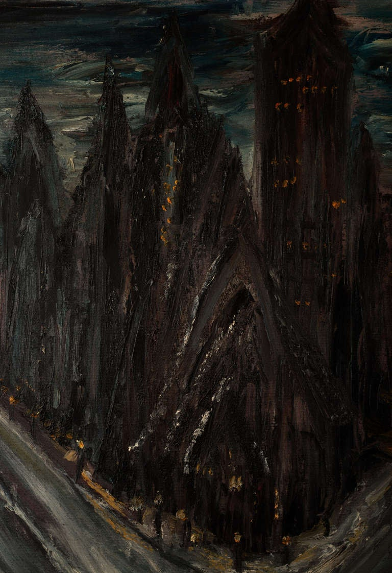 Gothic Cityscape Painting For Sale At 1stdibs