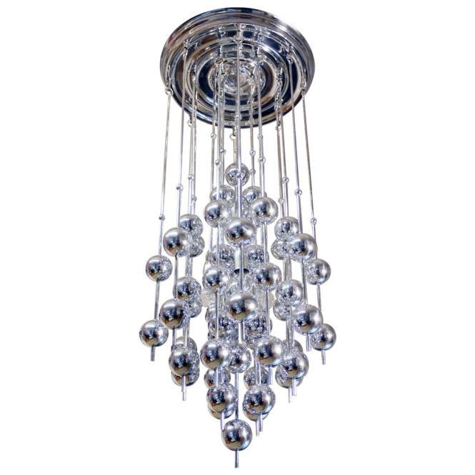 Verner Panton Metallic Ball Chandelier 1