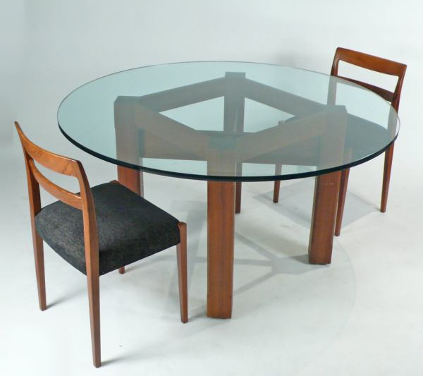 dining tables for sale Custom Glass Top Dining Table For Sale at 1stdibs