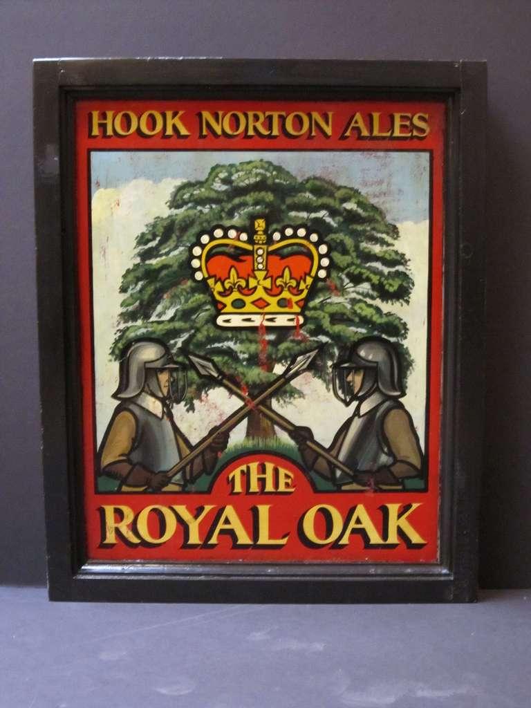 English Pub Sign The Royal Oak Hook Norton Ales At 1stdibs