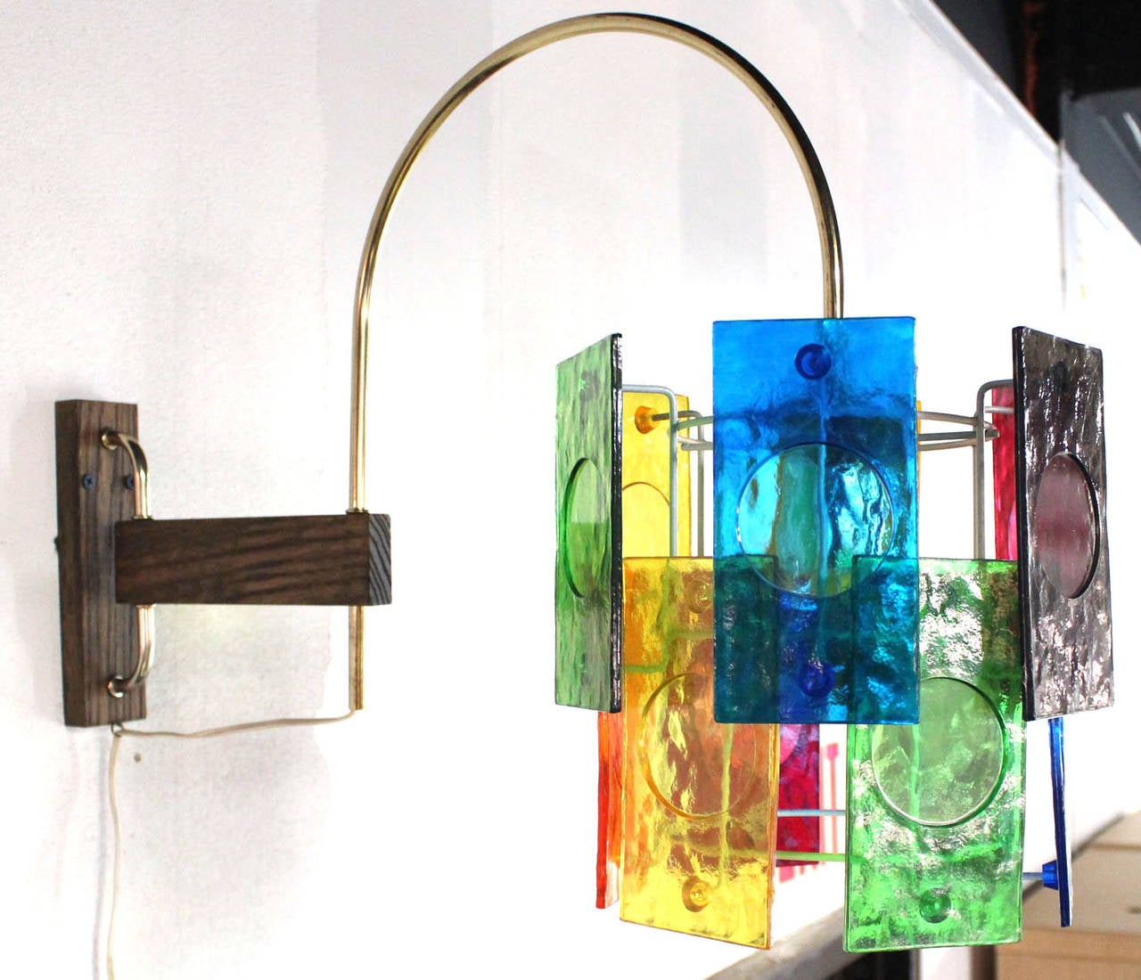 Mid Century Modern Colorful Swivel Wall Sconce Light ... on Mid Century Modern Sconces id=32358