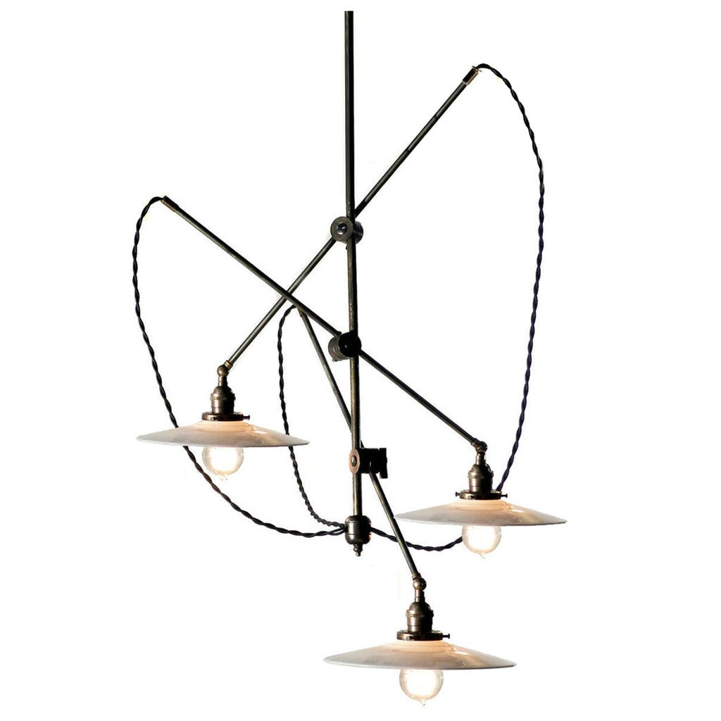 Cascading Industrial Articulated Chandelier At 1stdibs