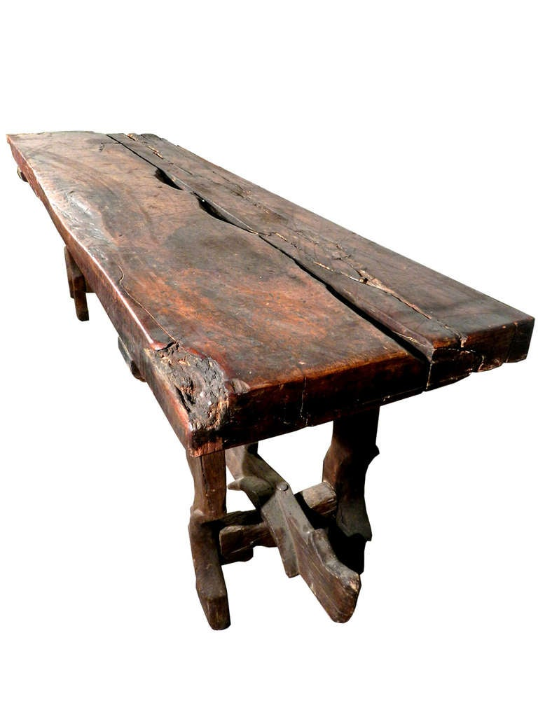 Rustic Farm Table Legs And Stretcher From Tandem Horse
