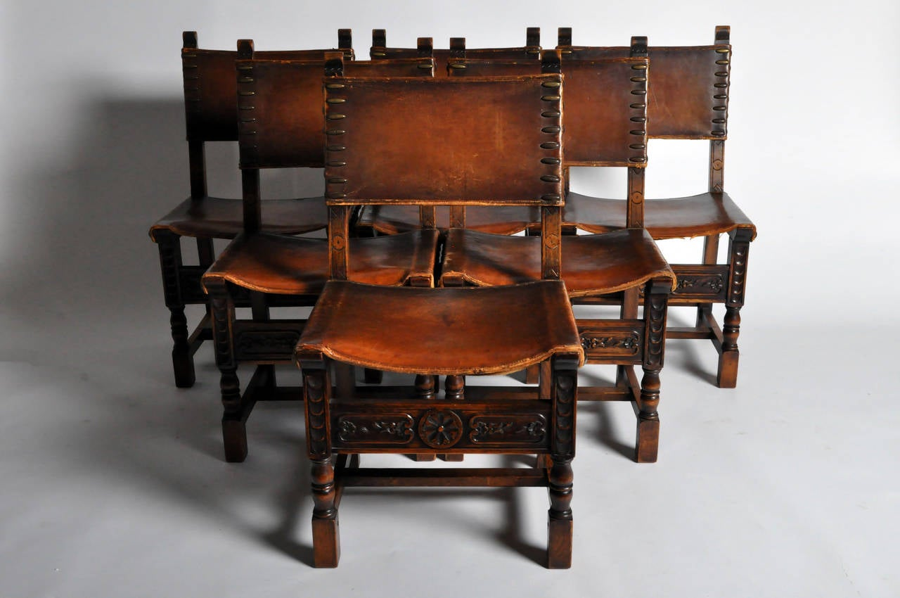 Set Of Renaissance Revival Side Chairs At 1stdibs