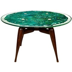 Burl Wood And Chrome Dining Table By Leon Rosen For Pace