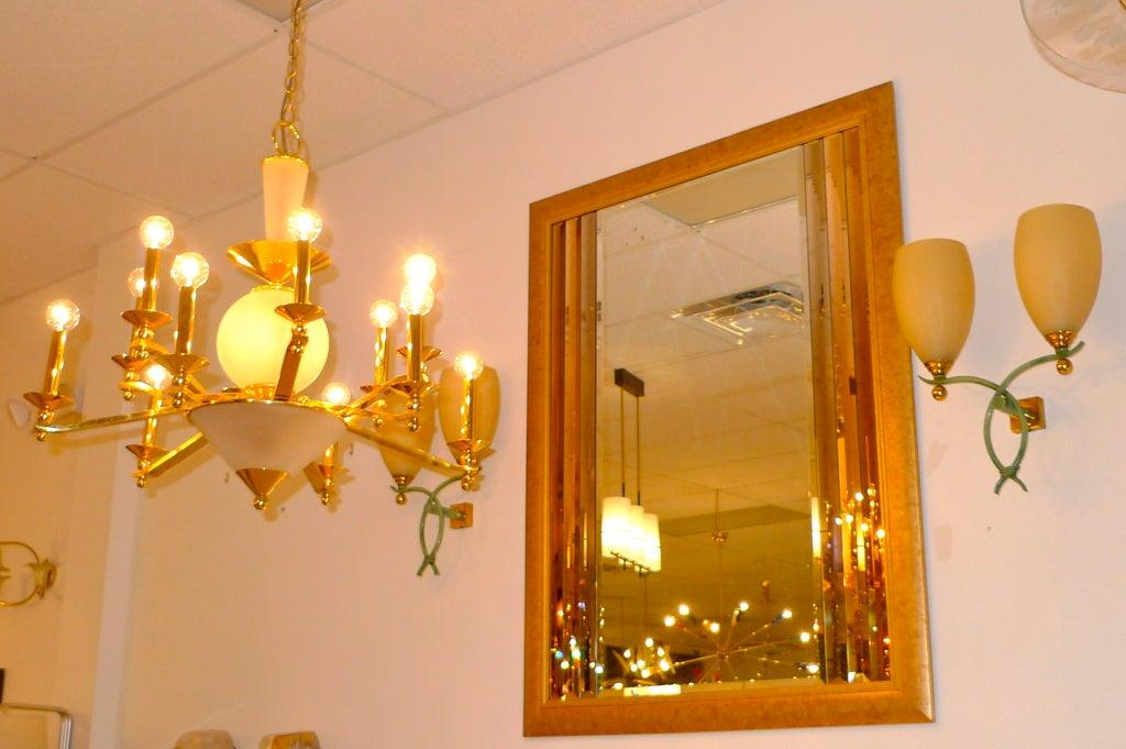Oversize Gold Framed Multi-Beveled Bordered Mirror For