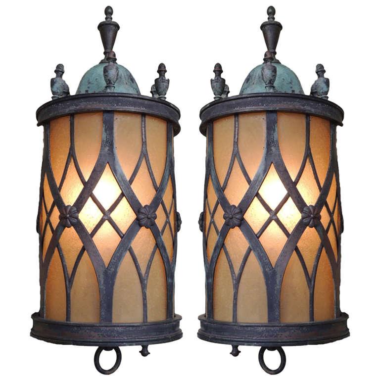 Late 19th Century English Lantern Sconces At 1stdibs