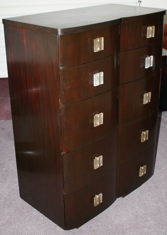 John Stuart Art Deco Mahogany Four Drawer Dresser At 1stdibs