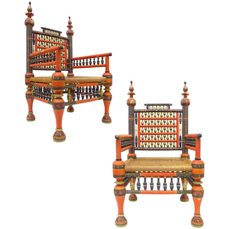 Wooden sofa sets wooden modern sofa set wooden living room. Pair of Wonderfully Decorated Traditional Pakistani Chairs ...