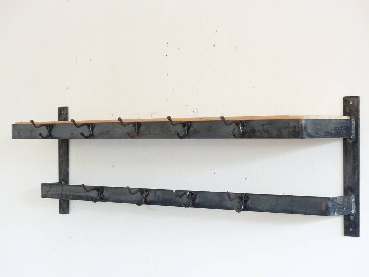 Industrial French Wire Coat Hooks