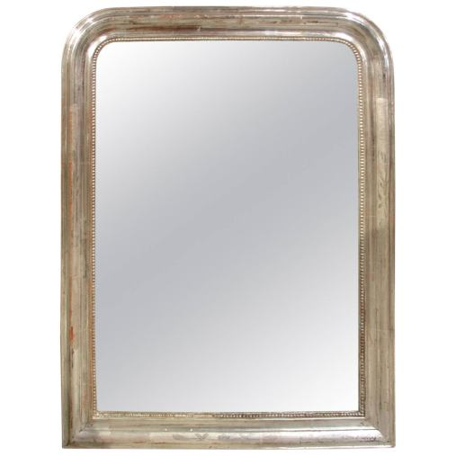Antique Silverleaf Louis Philippe Mirror from France, 19th Century 1