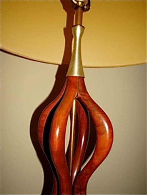 Adrian Pearsall Sculptural Large Scale Danish Table Lamp ...