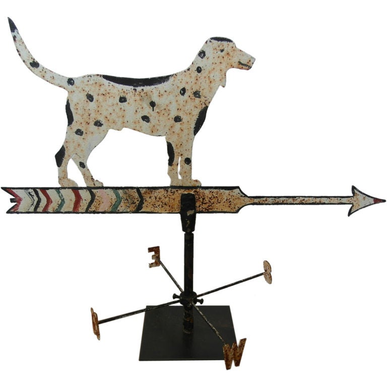Folk Art Dog Weathervane At 1stdibs