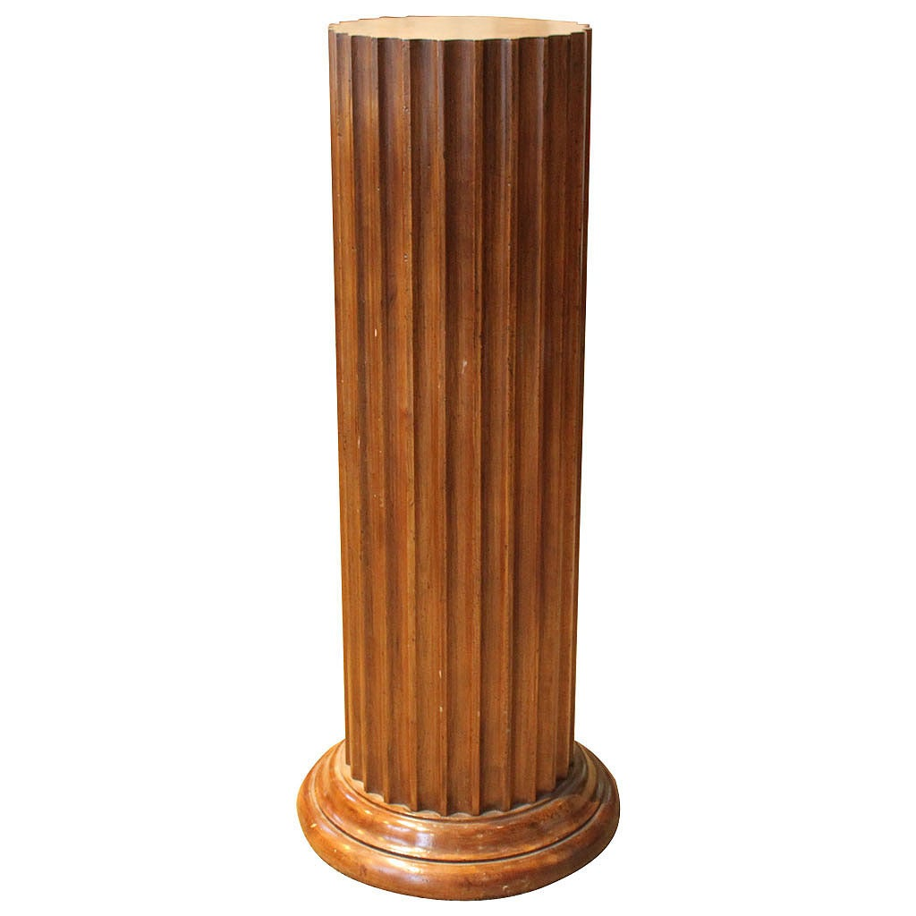 Fluted Wood Pedestal By John Widdicomb At 1stdibs