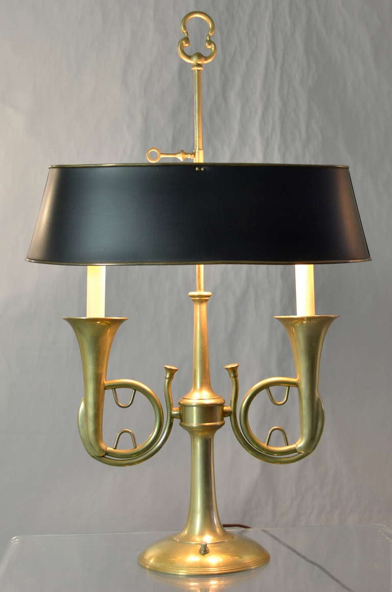 Brass Hunting Horn Lamp At 1stdibs