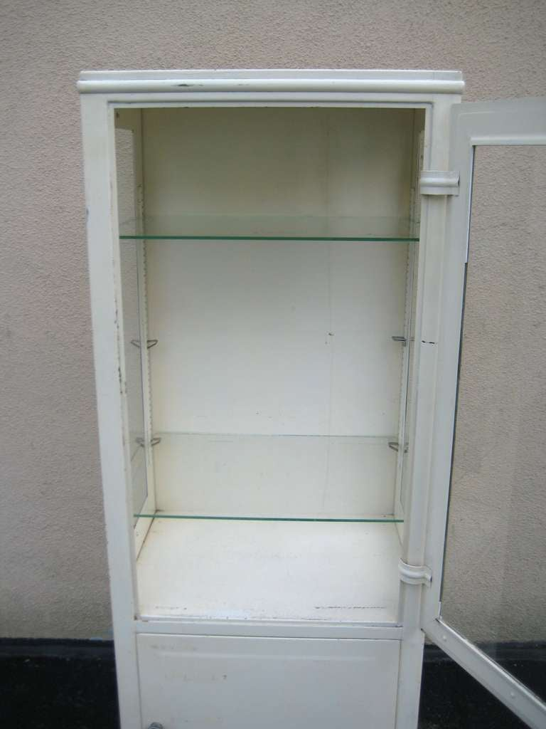 Vintage Industrial Medical Display Cabinet At 1stdibs