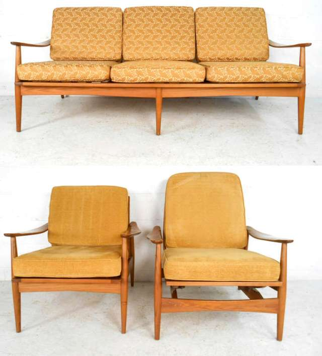Three-Piece Mid-Century Modern Living Room Set For Sale at ...