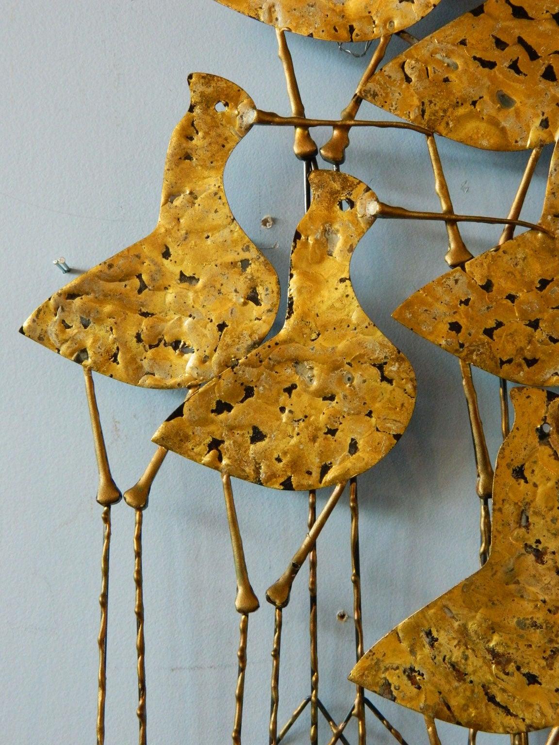Jere Sandpiper Birds Wall Sculpture At 1stdibs